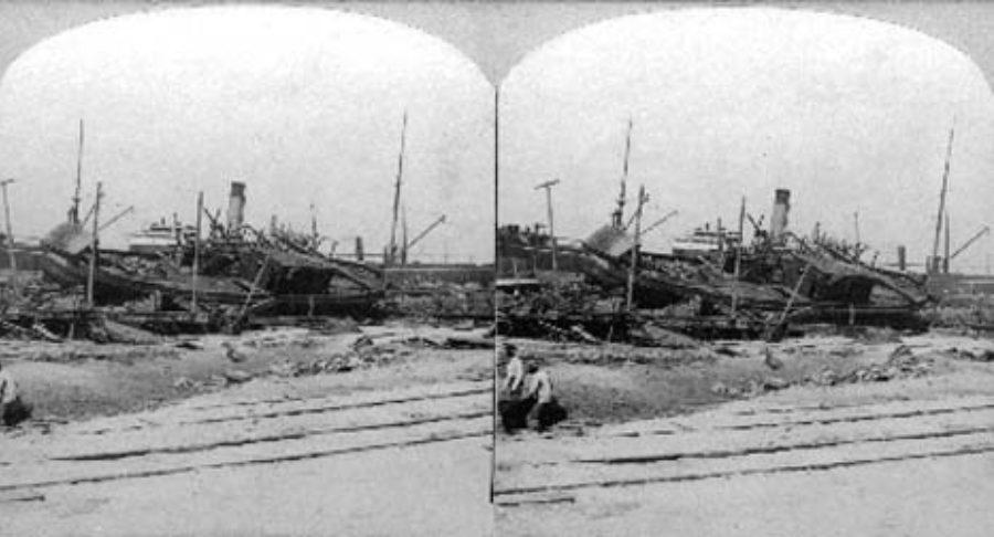 SC#146.1-2 Pier 16 and Relief Boat, Galveston, Texas