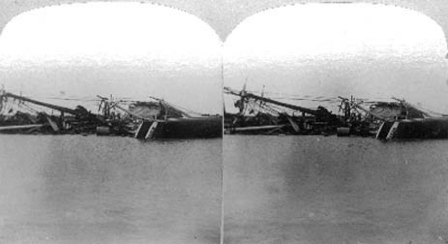 SC#146.1-4 The path of the great Tornado at Galveston, Texas September 8th 1900