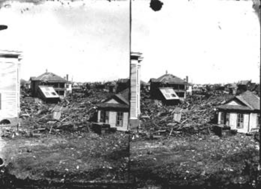SC#194-33 Severely damaged residential area.