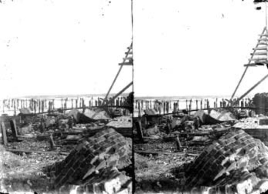SC#194-36 Ruins of Beach Hotel (burned August 23, 1898).