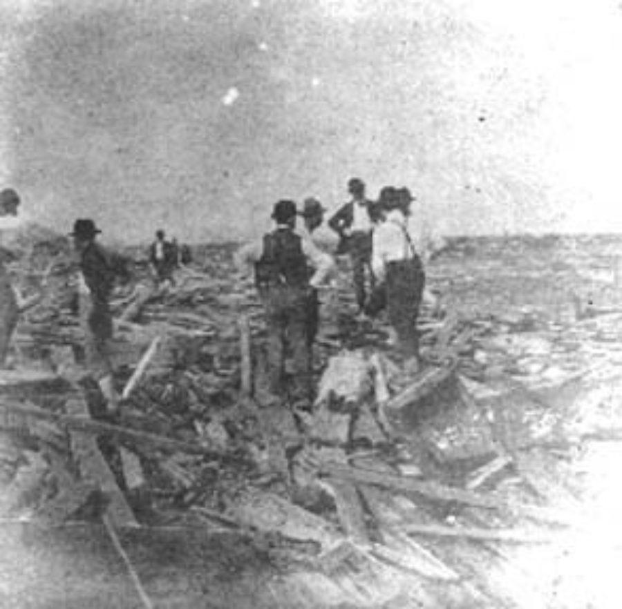 SC#204-16 Removing Bodies from Debris near Beach