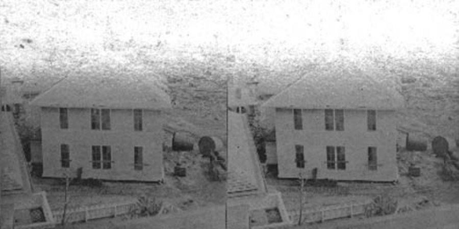 SC#79-17 A Schoolhouse Carried 600 ft.  All Beyond Met Destruction.  Galveston.