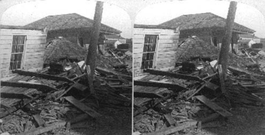 SC#79-6a The Dead left by the Receding Flood, 33d St and Avenue M, Galveston, Texas