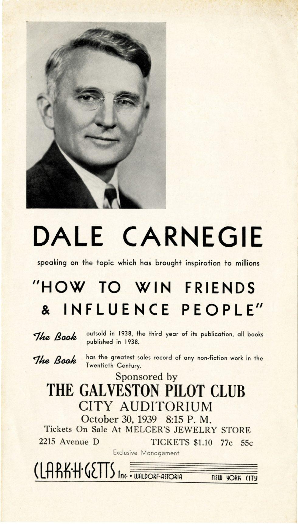 Dale Carnegie's Visit to Galveston