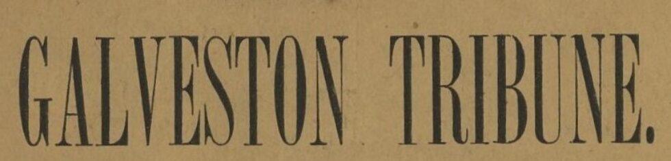 Online Workshop: Searching the Galveston Tribune Newspaper