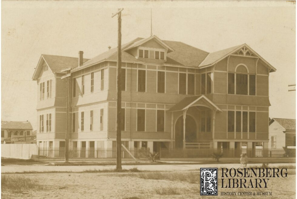 Photo of West District School, southwest corner of 35th Street and Avenue M½, circa 1910. Those Who Fell: Part 3 of Profiles of Selected 1900 Storm Victims