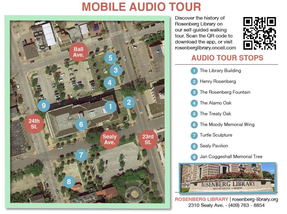 Take an outdoor history tour with the new Rosenberg Library app!