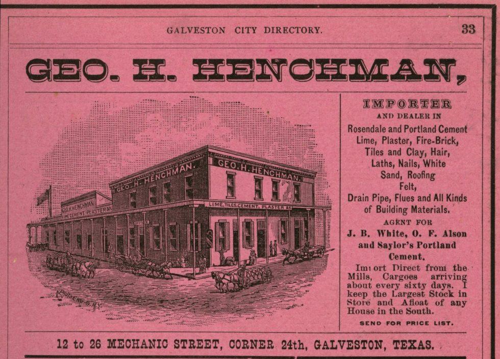 George H. Henchman, Building Materials Dealer