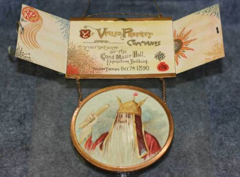 Invitation to the 1890 Veiled Prophet's Ball