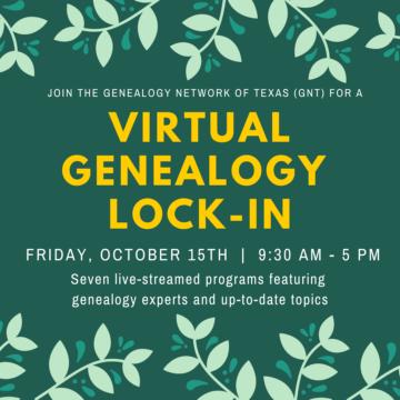 2021 Virtual Genealogy Lock-In