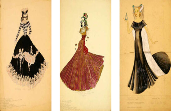 Vintage Mardi Gras Gown Sketches