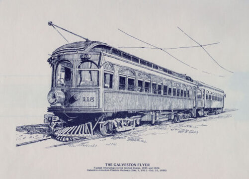 Galveston-Houston Electric Railway Company Interurban Model Train