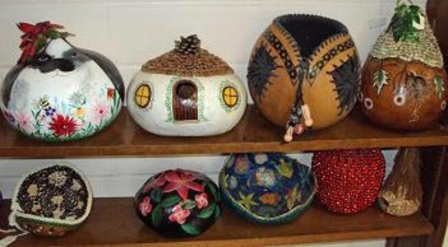 Carved Peruvian Gourd