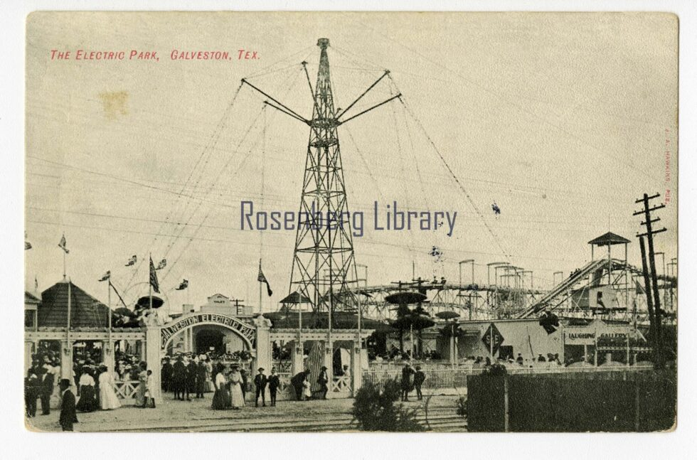Photo of Aerial Swing at Electric Park, Galveston, Tex., circa 1907 Electric Park, Part 1
