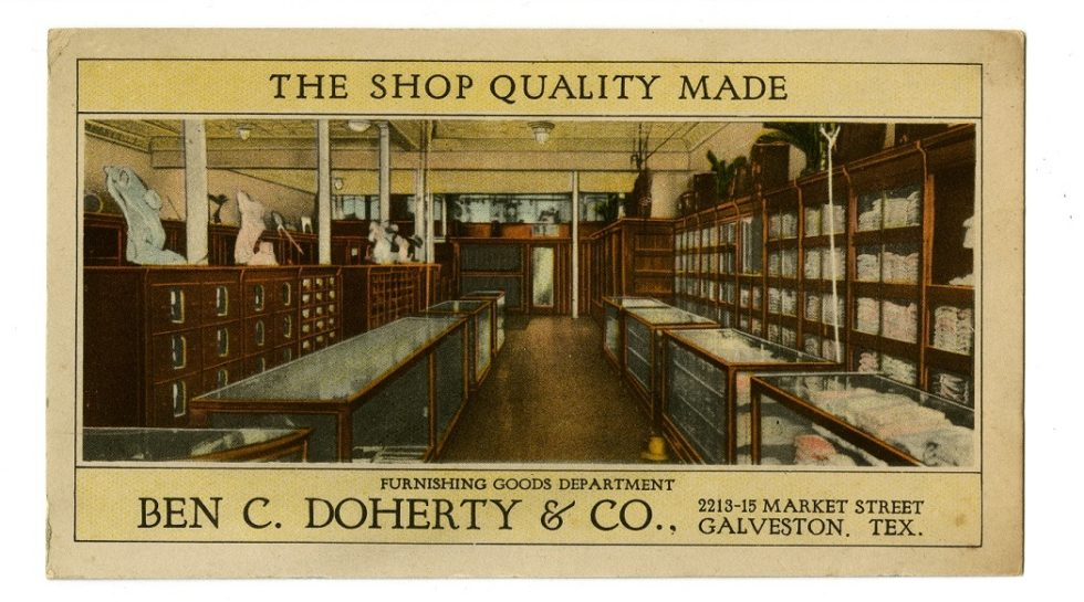 Ben C. Doherty & Co, Men's clothiers. 1915-1933